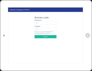 Eenvoudig te activeren, met een persoonlijke code.